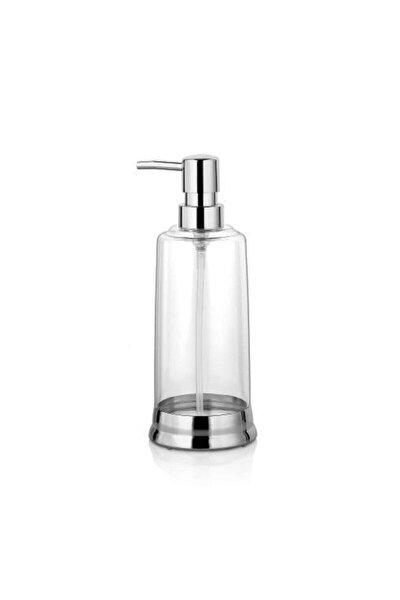 Indecor Şeffaf Sıvı Sabunluk Krom