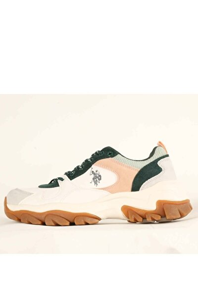 Us Polo Tracky Kadın Günlük Spor Ayakkabı 100551452-beyaz