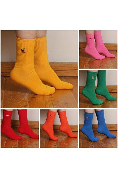 6'lı Hayvan Desenli Çorap