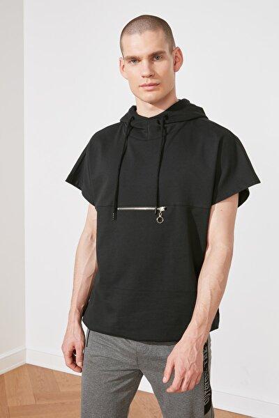 Siyah Erkek Oversize Fit  Sweatshirt TMNSS21SW0320