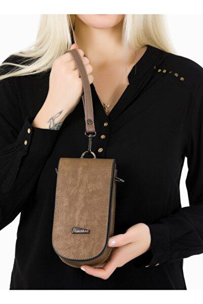 Kadın Vizon Kartlıklı Telefon Çantası