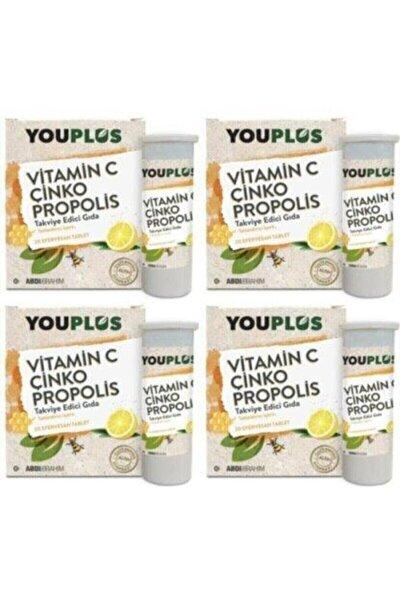 Vitamin C Çinko Propolis 20 Efervesan Tablet 4'lü Avantaj Paketi