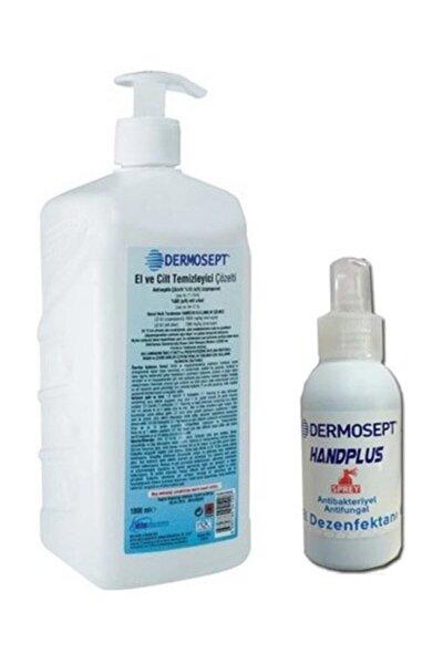 Handplus El Ve Cilt Dezenfektanı Antibakteriyel Sıvı 1000 ml X 100 ml