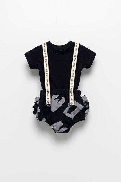 Askılı Siyah Bebek Takım