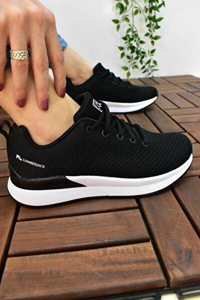 633 Unisex Spor Koşu Ayakkabı Memory Foam Spor Siyah