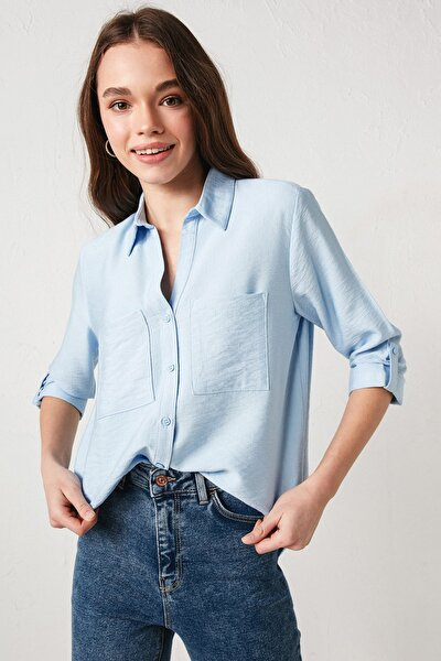 Kadın Lila Gömlek
