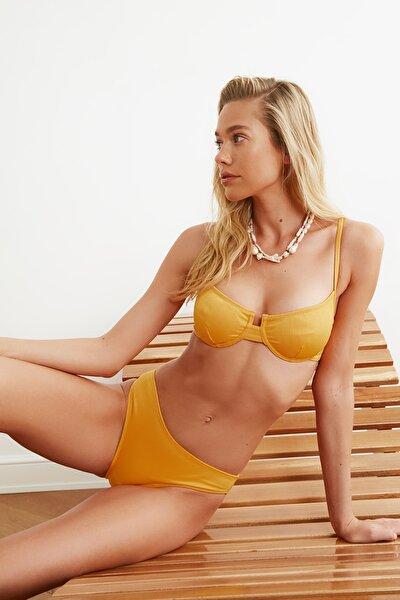 Turuncu Jakarlı Bikini Üstü TBESS21BU0162