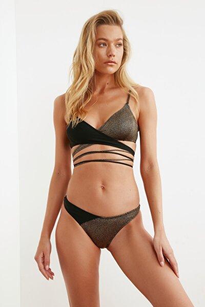Siyah Renk Bloklu Bikini Altı TBESS21BA0255