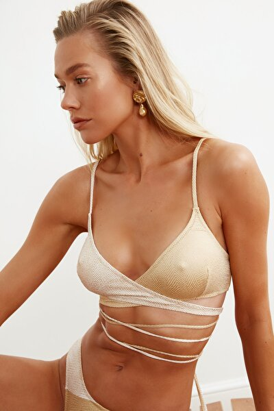 Bronz Renk Bloklu Bikini Üstü TBESS21BU0278