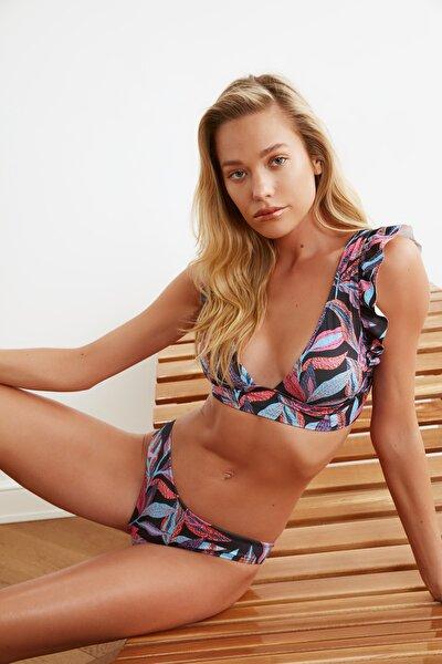 Yaprak Desenli Bikini Altı TBESS21BA0042