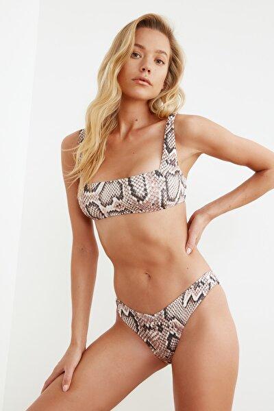 Yılan Desenli V Kesim Bikini Altı TBESS21BA0032