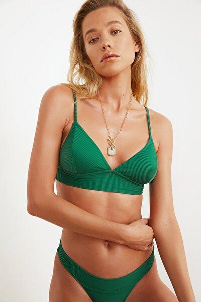 Yeşil Üçgen Bikini Üstü TBESS21BU0085