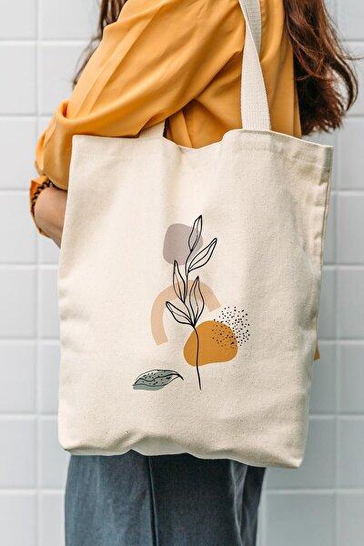 Kanvas Art Flower Baskılı Bez Çanta