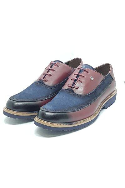 Erkek Lacivert Günlük Bağcıklı Ayakkabı