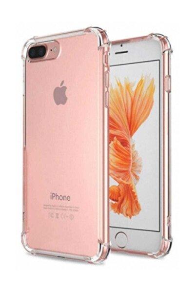 Iphone 7 Plus - 8 Plus Ultra Ince Şeffaf Airbag Anti Şok Silikon Uyumlu Kılıf- Şeffaf