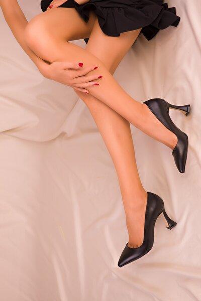 Siyah Kadın Klasik Topuklu Ayakkabı 15953