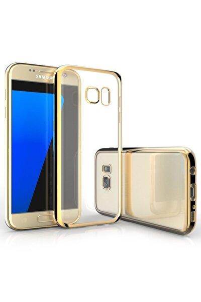 Samsung Galaxy S7 Edge Gold Lazer Silikon Kılıf