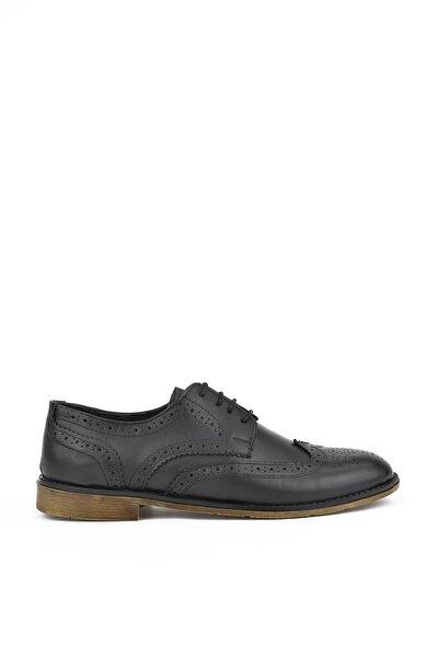 , Erkek Hakiki Deri Ayakkabı 111415 649141 Lacıvert
