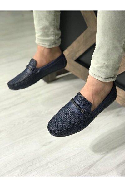 Erkek Lacivert Loafer Ayakkabı