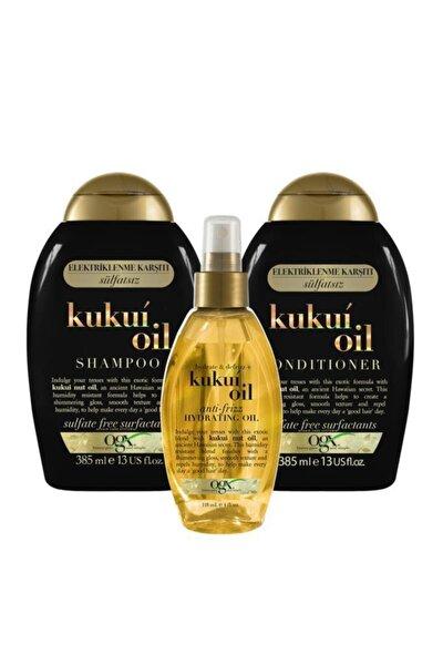 Nemlendirici & Elektriklenme Karşıtı Kukui Oil Şampuan + Bakım Kremi+Serum 118 ml