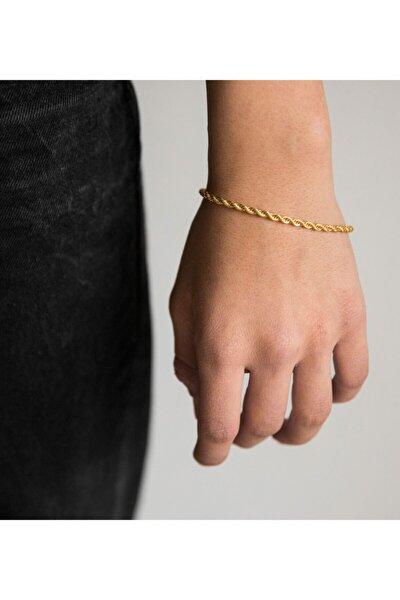 Kadın Gold Kaplama Burgu Bileklik