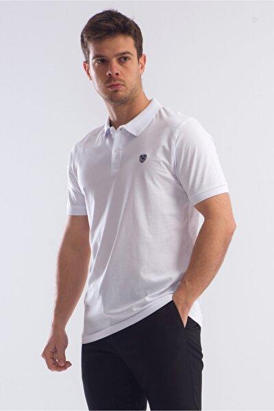 Erkek Beyaz Armalı Polo Yaka Tshirt