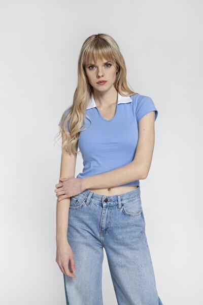 Wanda - Kısa Kollu Mavi Tişört | 160466-2