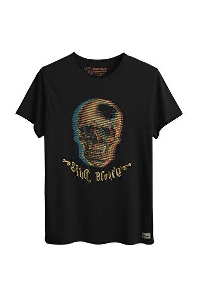 Erkek Siyah Baskılı Tişört