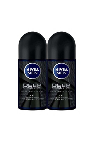 Men Deep Dımensıon Roll On Deodorant Erkek 50 ml 2'li Avantaj Paketi