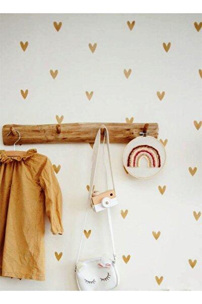Gold (altın Sarı) Şirin Kalp Çocuk Odası Sticker 100 Adet