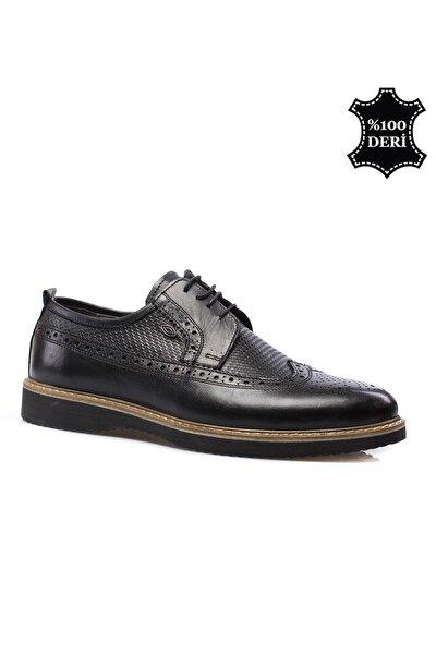 Hakiki Deri Siyah Erkek Klasik Ayakkabı PRA-591260-035529