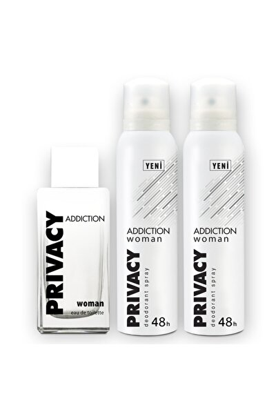Addiction Edt 100 ml Kadın Parfüm + 2x150ml Deodorant Set 1742751043423
