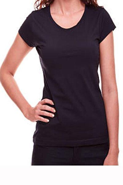 Kadın  Siyah Renk Pamuklu Tişört
