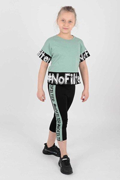 Ahenk Kıds Ak14219 Kız Çocuk No Fılter Baskılı Taytlı Takım