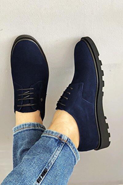 Lacivert Süet Erkek Klasik Ayakkabı