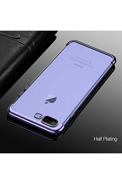 Iphone 7 Plus Kılıf Lazer Boyalı Renkli Esnek Silikon Şeffaf