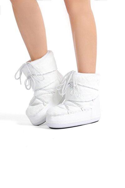 Kadın Beyaz Soft Kar Botu