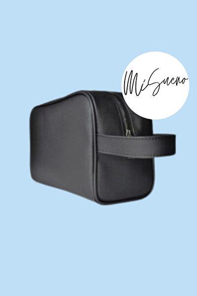 Erkek 'ORTA BOY' (20x16x10) Siyah Tıraş Çantası, Seyahat Çantası, Kozmetik Çantası