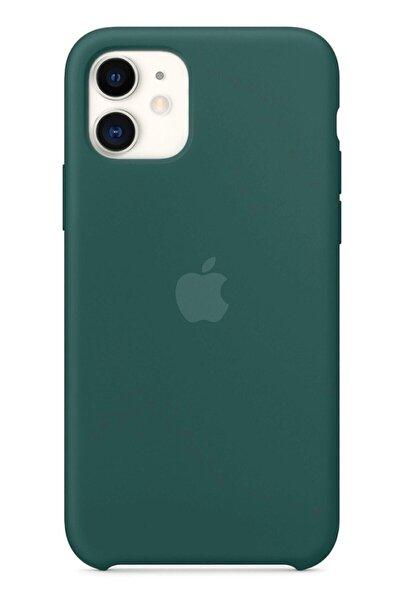 Iphone 11 Silikon Kılıf Çam Yeşil Uyumlu