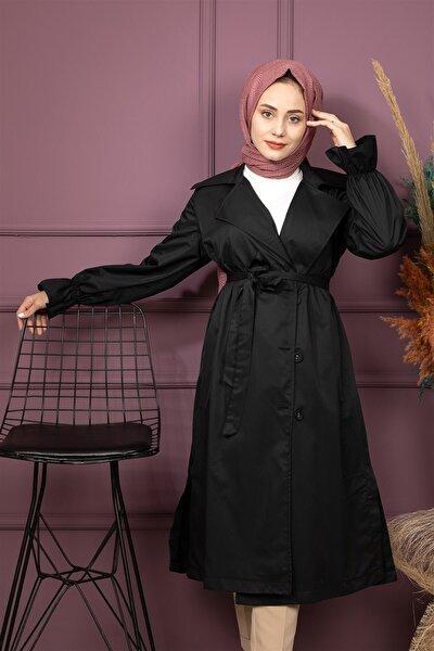 Kadın  Trençkot 5232 Siyah