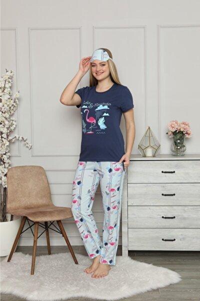 Kadın Lacivert Lake Flamingo Pijama Takımı
