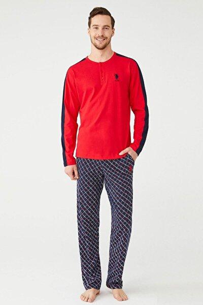 Erkek Kırmızı Patlı Pijama Takım