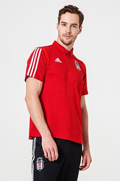 Erkek Kırmızı Adidas Antrenman Polo T-Shirt 19-20 D95962
