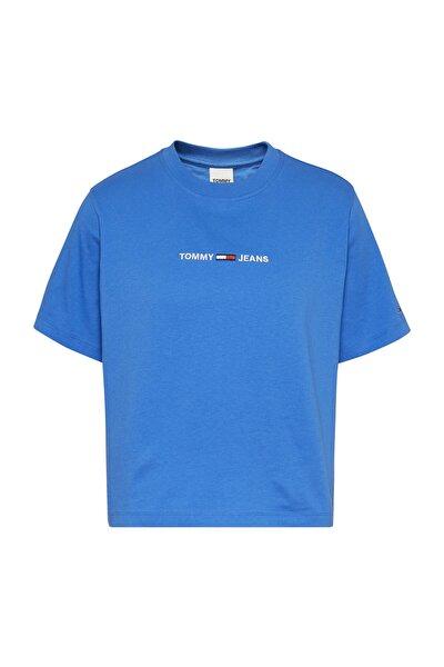 Kadın Mavi T-Shirt Tjw Lınear Logo Tee DW0DW10057