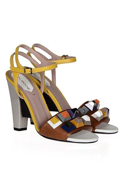 Kadın Sarı Klasik Topuklu Ayakkabı Nsc16y-a51802