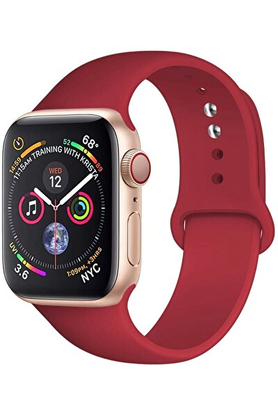 Apple Watch 2 44mm Uyumlu Spor Silikon Kordon
