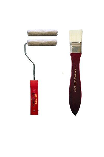 İz Bırakmayan İpek Fırça Parmak Kadife Rulo Fırça Seti 10cm