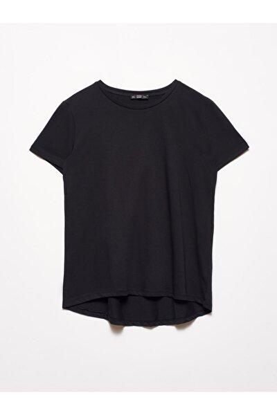 3471 Bisiklet Yaka Basic T-shirt-siyah