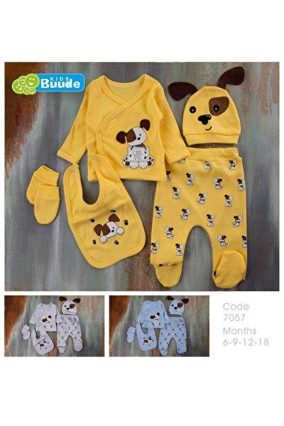Bebişim Bebe Kıds Bude 0-3 Ay Hastane Çıkış Seti 5 Parça Cool Dag Sarı Takım Yeni Doğan