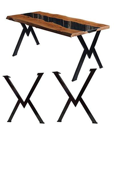 Metal Ayak Masa Ayağı Ahşap Kütük Masif Çalışma Yemek Mutfak Masası Ayağı Retro Ayak Takımı